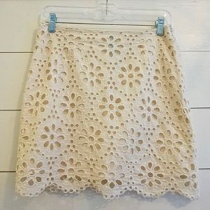 Francesca's cream lace skirt